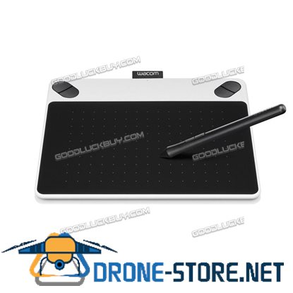 Wacom Intuos Draw CTL490DW Creative Digital Drawing Graphics Pen Tablet Small White