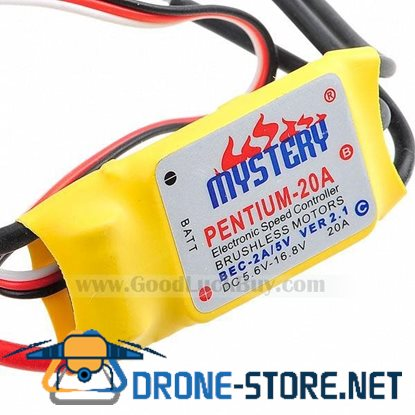 Mystery 20A Brushless IN-BEC Electronic Speed Motor Controller ESC Yellow