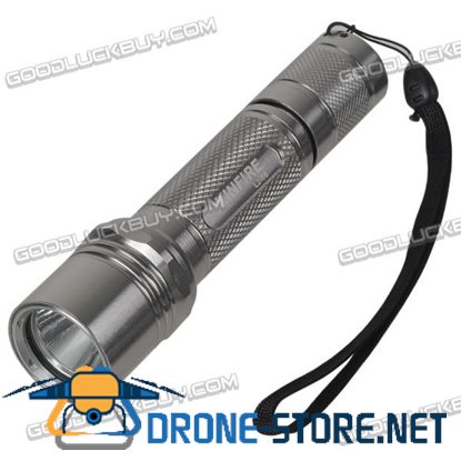 KinFire L2-T6 5 Mode Cree XM-L T6 LED Flashlight 860lm Luminous Flux 13.8cm Length (Silver)