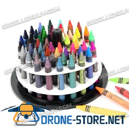 60 Assorted Crayons Pack Brilliant Colors for Kids Painting