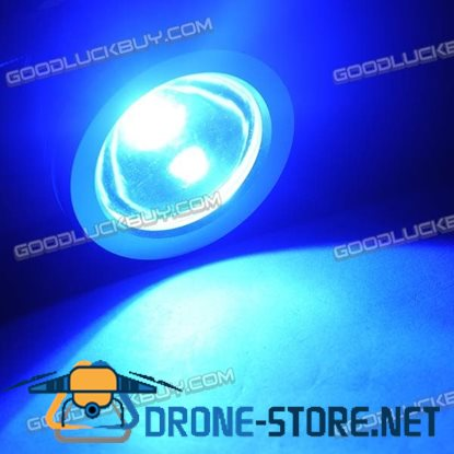10W Underwater Waterproof LED Flood Round Light Lamp Safe 12V Outdoor-Blue