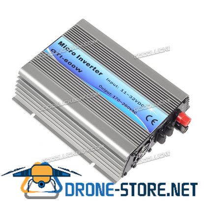 600W Grid Tie Inverter DC11V-32V to AC230V for 18V/36cells Panel w/ MPPT Functions