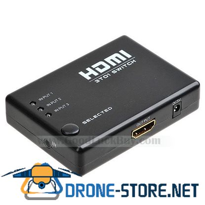 3 Port HDMI Switch Switcher Selector 3 in 1 Splitter w/Remote
