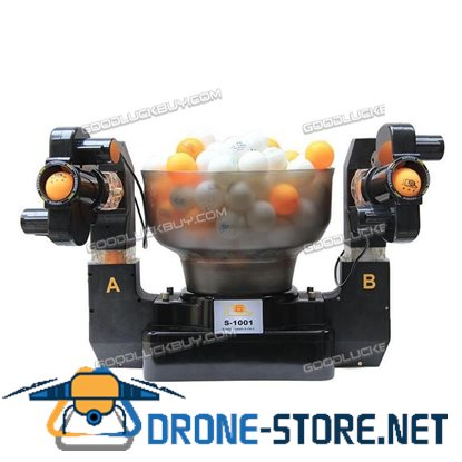 100-240V Double Automatic Table Tennis Ball Machine Dual Head Table Tennis Robot