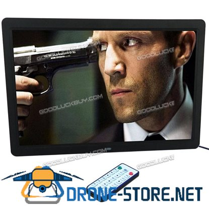 """15"""" 1280*800 LED HD Digital Picture Photo Frame Movie MP4 Player Remote Controller Black"""