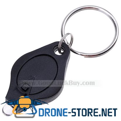 Bright White LED Flashlight Keychain- Black Casing