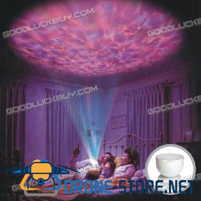 LED Light Relaxing Ocean Projector Pot Aurora Master Relaxing Night Light with Speaker