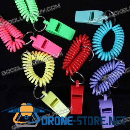 Whistle Keychain Keyring Sporting Events Party Favors (6-Pack)