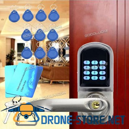 Digital Electronic Keyless Entry Code Door Lock Security w/ 10 Tags