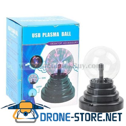 USB + AC Plasma Ball Mood Sphere Light Lightning Party