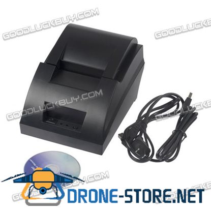 POS-5890C Mini 58mm POS Thermal Dot Receipt Bill Printer Set Roll Paper USB