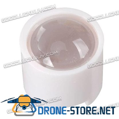 10-pack 8 Degrees 14.5MM Optical Glass lens for CREE XPE/XPG with Holder-White
