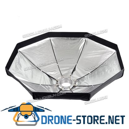 80cm Umbrella Octagon Softbox with Grid for SpeedLight Flash Studio Strobe 8 Ribs