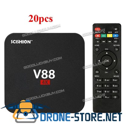 20x V88 4K Android 6.0 Quad-Core 1GB/8GB Smart TV Box WiFi HDMI Media Player