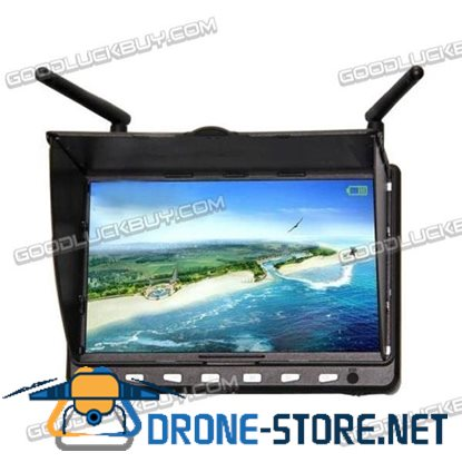 "Skywing 7"" HD 1024*600 Monitor w/ 5.8G 40CH Dual Receiver &2000mA Battery for FPV"