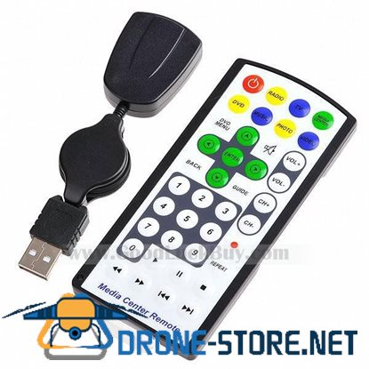 Media Center USB PC Remote Control Travel Mouse for PC Laptop