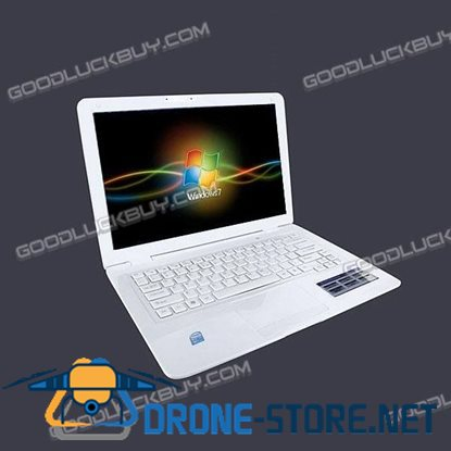 "13.3"" Slim Netbook MacBook Style Intel Atom N4501GB w/Remote Control White"