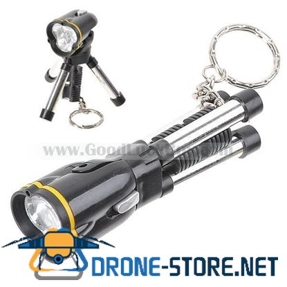 Mini LED Torch Flashlight Keychain with Tripod