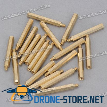 Brass Hexa Stand-off Pillar Male-Female Spacer M4*45 +6 20-Pack