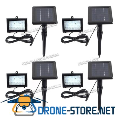 30 LED Solar Powered Waterproof Outdoor Garden Security Flood Light Lawn Lamp 4pcs
