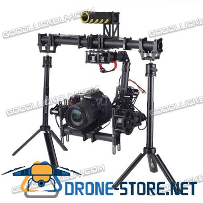 3 Axis Handle Brushless Gimbal for Canon 5D3 w/3pcs 5208 Motor & PTZ Controller & Folding Multi-functional Handheld