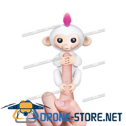 New Fingerlings Interactive Baby Monkey Sound Finger Motion Hanger Toy Gift  White