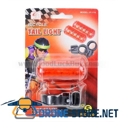 5-LED Safety Bike Tail Mount Light 2xAAA