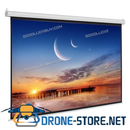 """100"""" 4:3 Black Material Foldable Electric Motorized Projector Screen +Remote"""