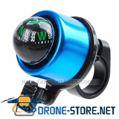 Bike Cycling Bicycle Fluid-floating Compass Ball w/Ring Bell