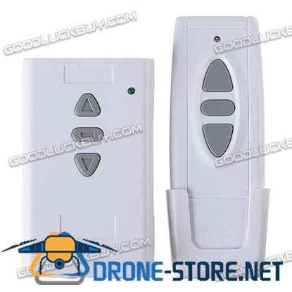 3-Way 3CH ON-OFF Wireless RF Wall Switch w/ Remote Control