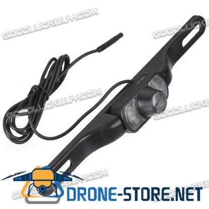 License Wireless 7-LED Night Vision Rear View Camera for Car DVD Black(WX800EBS)