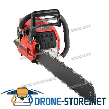 "20"" Bar Gas Chainsaw 58cc Chain Saw Cutting Wood 2 Cycle Engine Gasoline Red"
