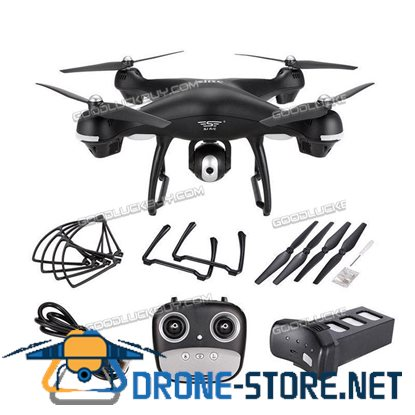 S70W 2.4GHz GPS FPV Wifi Drone RC Quadcopter 1080P Camera Follow Me Mode Red
