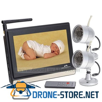 2.4GHz A/V Wireless 2in1 Camera 7inch LCD Baby Monitor