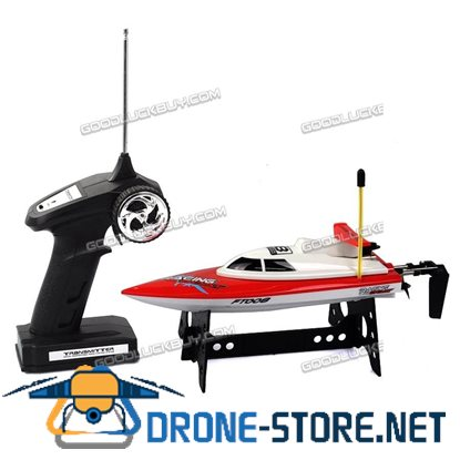 Feilun FT008 4CH 27Mhz High Speed Remote Control RC Racing Boat Electric Toys Red