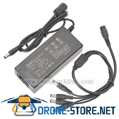 12V 4A Switching Power Adapter CCTV Camera 4 output