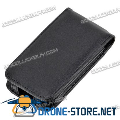 Leather Case with Flip-Open Cover for Apple iPhone 3G
