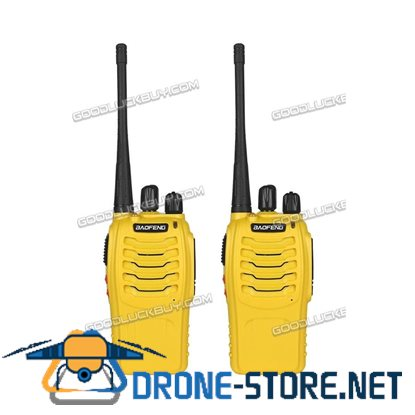2x Baofeng BF-888S Walkie Talkie Long Range 2 way Radio UHF 400-470MHZ 16CH Earpiece Yellow