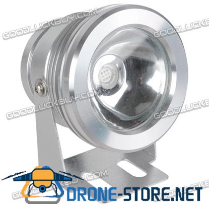 10W Underwater Waterproof RGB LED Flood Flat Light Lamp Safe 12V Outdoor+Remote Control