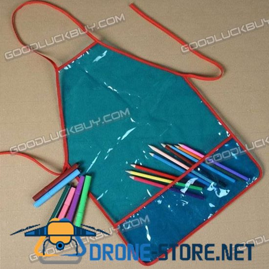 Clear Blue PVC Apron w/  Pocketfor Child Painting Craft Art