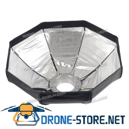 60cm Umbrella Octagon Softbox with Grid for SpeedLight Flash Studio Strobe 8 Ribs BLD-16S