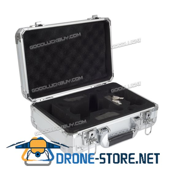 Waterproof Portable Carrying Storage Aluminum Case Box for DJI Spark FPV Drone Silver
