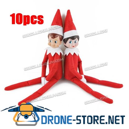10pcs 5 boys & 5 girls Elf on the Shelf Plush Dolls Figure Kids Toy Gift for Christmas