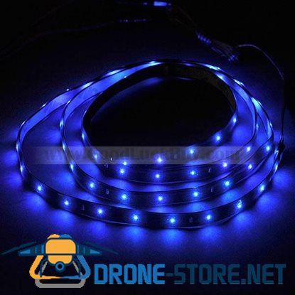 1.2M 0603 SMD PVC 60 LED Flexible Strip Lamp Blue Waterproof