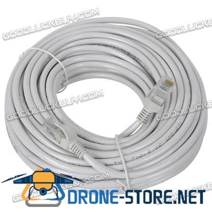 20M Cat5e Network LAN Ethernet Internet Cable for Gaming Computer-Grey