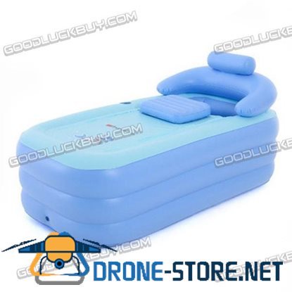 Adult Spa PVC Folding Portable Bathtub Warm Inflatable Bath Tub for Kids Gift Swim