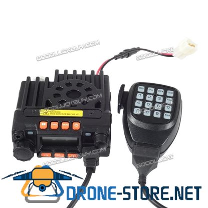 Mini-8900 Mobile Transceiver Car Radio UHF 20W+VHF Alarmfor Bus Car
