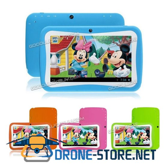 """7"""" Android 4.4 Quad Core 8GB HD Tablet PC Wifi Camera for Education Kids Children"""