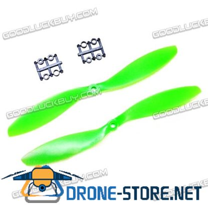 "GEMFAN 11x4.7"" 1147 1147R CW CCW Propeller Green For MultiCopter 2 Pairs"