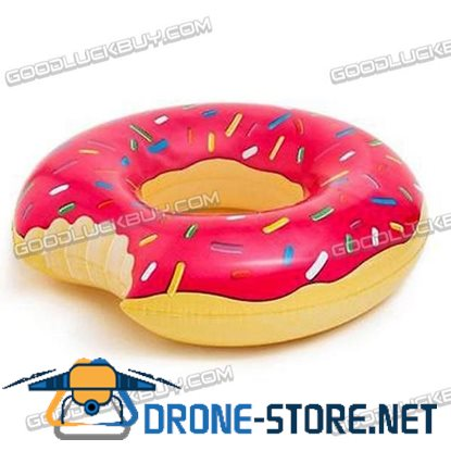 Giant Donut Swimming Swim Float Ring Summer Water Sport Inflatable Pool Toy Pink